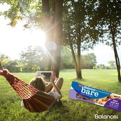 Today is National Hammock Day! There's no better way to celebrate than with a Balance Bare Bar while relaxing in your favorite shady spot.