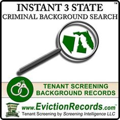The 3 State Instant Criminal Background Search includes a free criminal records search. The state is a free criminal background records court check. Free Criminal Record Search, Tenant Screening, Criminal Background Check, Background Search, Records Search, Public Records