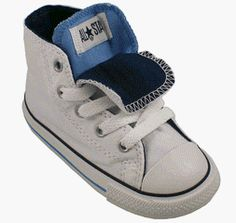 Converse Kids All Star Chuck Taylor Double Tongue Hi Top Shoes Sneakers