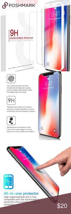 📱Electronics - iPhone 10/X Screen Protector x2 2 pack. Tempered glass screen protector for the iPhone10 / iPhoneX ✅Great deal!✅ 💰Save with bundle discounts💰 ❌NO TRADES❌ ~~~~~~~~~~~~~~~~~~~~~~~~~~~~~~ apple Accessories Laptop Cases