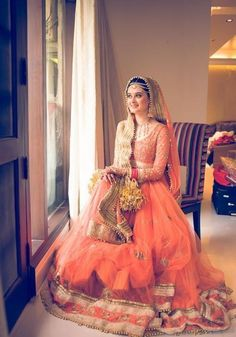 A Delhi Wedding Photography Story! Gulveen and Angad were married in a beautiful Sikh ceremony recently - here& a short story from the big day! Indian Bridal Outfits, Indian Bridal Fashion, Indian Bridal Wear, Pakistani Bridal, Bridal Lehenga, Indian Dresses, Bridal Dresses, Lehenga Choli, Silk Sarees