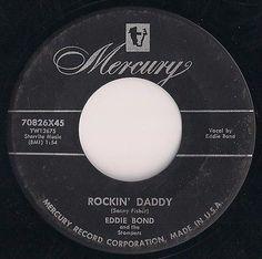 """Rockabilly EDDIE BOND & The Stompers """"ROCKIN' DADDY"""" orig 45 rpm on Mercury"""