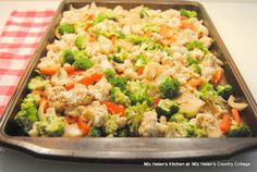 Sheet Pan Roasted Balsamic Cauliflower and Brocolli