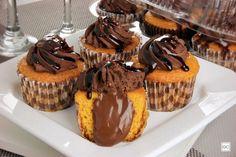 Cupcake de cenoura vulcão