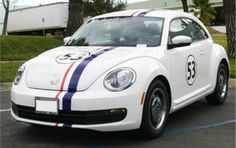 NEW new beetle decorated like Herbie