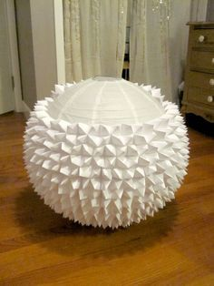 how to cover a paper lantern with fabric - Google Search