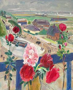 Jan Sluijters  Still Life with Flowers Overlooking the Amstelveenseweg  1925