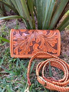 """Hand Tooled Leather, Small Crossbody, """"Petit"""" by ALLE, Vintage style, Mexican leather bag by ALLEHandbags on Etsy"""
