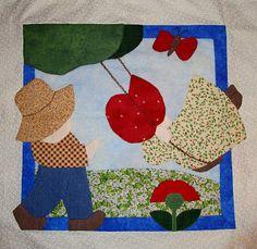Mi primer cojín manta patchwork