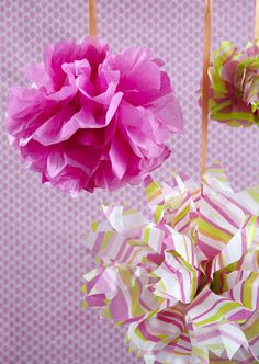 how to make hanging tissue paper ball decorations