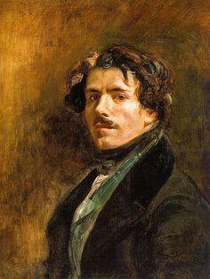 『自画像』(1878年) ドラクロワ E.Delacroix ルーヴル美術館(パリ)