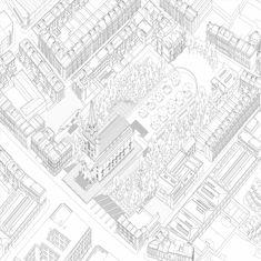 AA School of Architecture 2013 - Diploma 14 - Chris C Bisset Architecture Drawings, School Architecture, Aa School, Axonometric Drawing, Beautiful Architecture, Presentation, Diagram, Black And White, Illustration
