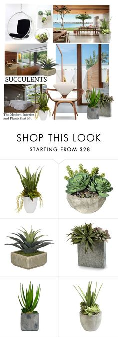 """""""Modern Plantings for Modern Interiors"""" by patricia-dimmick on Polyvore featuring interior, interiors, interior design, home, home decor, interior decorating, Nearly Natural, Cherner Chair Company, John-Richard and Laura Ashley"""