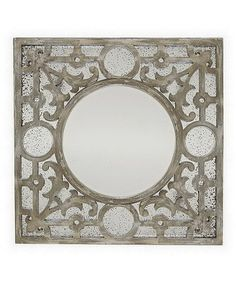 Look at this #zulilyfind! Square Wood Wall Mirror #zulilyfinds