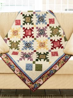 """In the Meadow"" by Wendy Sheppard (from The Quilter Magazine April/May 2013 issue)"