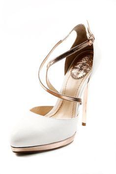 Rose Gold + White Stilettos
