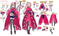 第2回アバターコンテスト開催! - 乖離性ミリオンアーサー攻略wiki Character Model Sheet, Female Character Design, Character Design Inspiration, Character Art, Manga Clothes, Drawing Anime Clothes, Vetements Clothing, Art Costume, Anime Dress