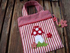 Kindertasche mit Fliegenpilz