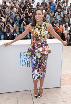 Rosario Dawson Just Proved That You Can Rock A Half-Shaved Head On The Cannes Red Carpet