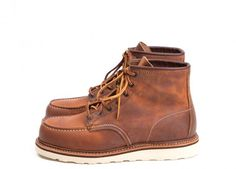 "Red Wing Shoes 1907 - 6"" Classic Moc Copper Rough and Tough"