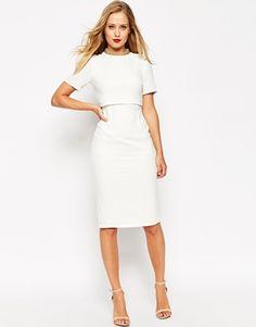 ASOS Embellished Collar Crop Top Pencil Dress