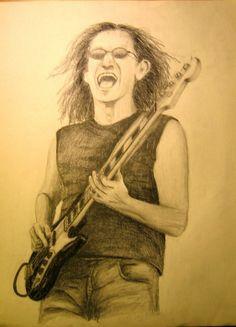 Geddy Lee, Rush, Progressive Rock, sketch