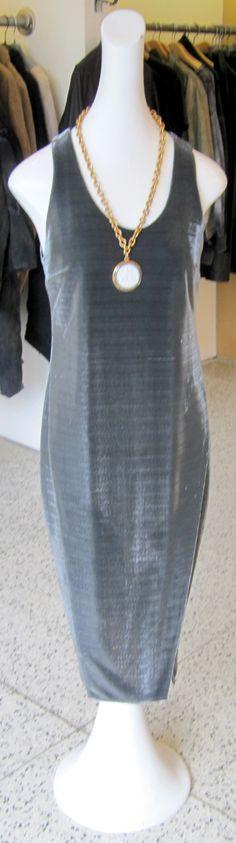 Silver Ji Oh dress with Bottega Venetta vintage necklace