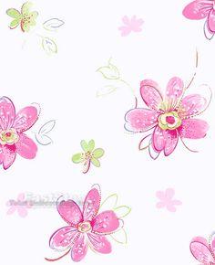 Bohemian Floral Wallpaper White Paper Girl Rooms Girls Bedroom Kids