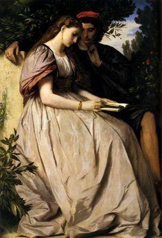 Anselm Friedrich Feuerbach (1829-1880) ALEMANIA. Paolo And Francesca Oil on canvas 1863. Considerado el mas destacado pintor clasicista de la escuela alemana del s. XIX. Su temática favorita era la Antigüedad Clásica