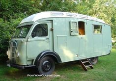 Loved my Coleman.  Think it's time for another.....vintage-trailers:  1948 Austin Camper Van [source]