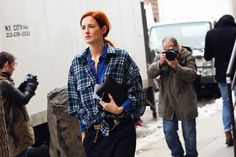 Taylor Tomasi Hill double shirting it.