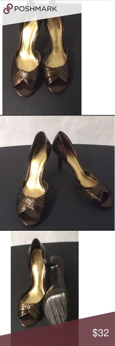 Brown Antonio Melani Heels Size 8N brown heels 3 inch heels ANTONIO MELANI Shoes Heels