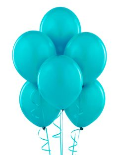 Bermuda Blue (Turquoise) Matte Balloons, 88503. Grouped balloons of this color, dark blue and light blue and maybe white or just white ribbon. Each kid can take a balloon home :)