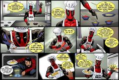 Deadpool and his chimichangas