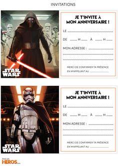 kit anniversaire star wars imprimez les cartes dinvitations star wars - Carte Anniversaire Star Wars Imprimer