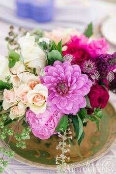 boho garden centerpiece.  Design- Luxe Events, Florist- Isari, Photography- We Heart Photography