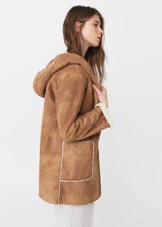 Cappotto collo pelliccia di pecora - Cappotti da Donna | MANGO Italia