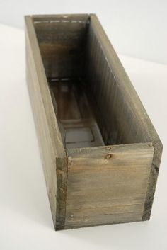 With rough-hewn beauty, this natural wood planter box harmoniously accents indoor or outdoor surroundings. Use as a simple decorative piece at a rustic wedding, filling with flowers or bouquets, and write sweet notes or quotes on the side in chalk or Wooden Planter Boxes, Wood Boxes, Diy Wood Box, Planter Ideas, Save On Crafts, Wood Slab, Wood Planks, Reception Table, Flower Boxes