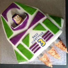 Homemade  Buzz Lightyear Spaceship Cake