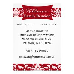 Customized Family Reunion Invitation