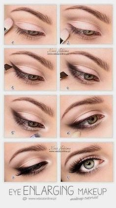 Zartes Augenmakeup