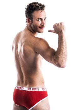 Gary Lucy in his pants promoting the new UK touring production of The Full Monty.