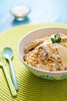 « Blésotto » : Blé comme un risotto aux champignons et parmesan frais