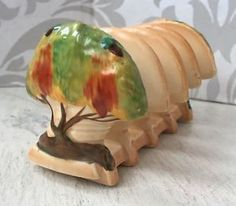 Vintage-Art-Deco-Carlton-Ware-Oak-Tree-Design-Toast-Rack-Rare