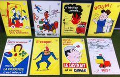 affiches sécurité pour les atelier !! Solitude, Baseball Cards, Lucky Charm, Posters, Atelier, Loneliness