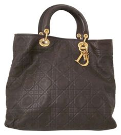 Christian Dior Soft Lady Cannage Tote in Dark Brown....is striking a cord today!