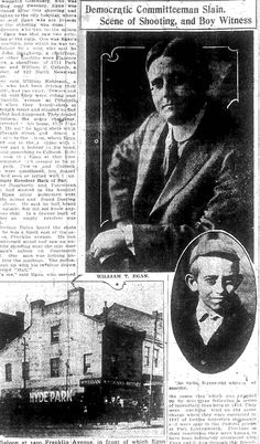 "Death of the Head Rat, http://kenzimmermanjr.com/death-of-the-head-rat/  In 1921, a gang war within St. Louis' criminal organization, ""Egan's Rats"" took the life of new leader William T. ""Willie"" Egan."