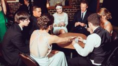 Clockwise from front, Nicole Cameron, obscured, Darrell Fraei, Tui Kereopa, Holly Rudman, P.E teacher, David Harrison, Shaanika Caie and Jordan Bright-Smith enjoy a round of cards at the Thames High School ball.