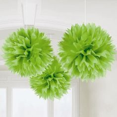 tissue pom poms---these look fun...imagine in a variety of vibrant colors.