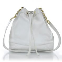 Chanel Light Blue Drawstring Shoulder Bag 71